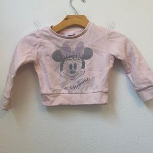 DISNEY MINNIE MOUSE PINK SWEATER SIZE 2T